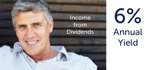 dividend income 6 percent annual yield